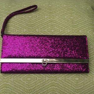 Metallic Purple wristlet wallet preowned
